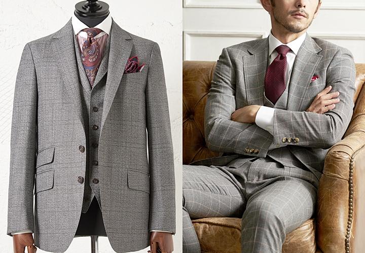 グレースーツ,カジュアルシーンでのグレースーツ,英国紳士風スーツ