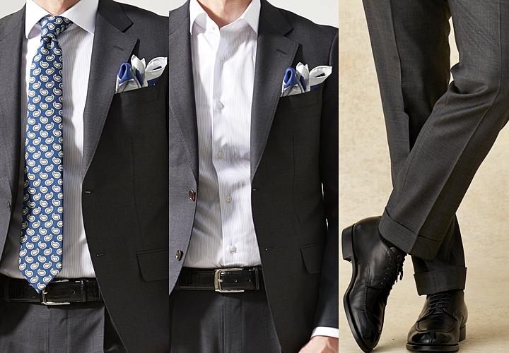 グレースーツ,ネクタイ,シャツ,靴(シューズ)