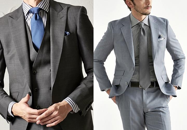 グレースーツ,定番のネクタイ,ネイビー・同色系