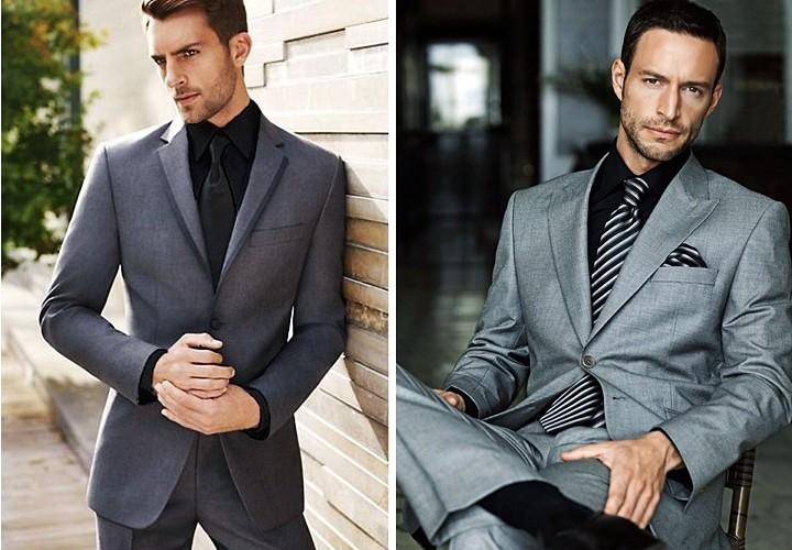 黒シャツ×黒ネクタイのグレースタイル