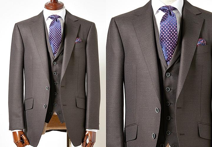 イギリスブランド スキャバルのブラウンスーツ
