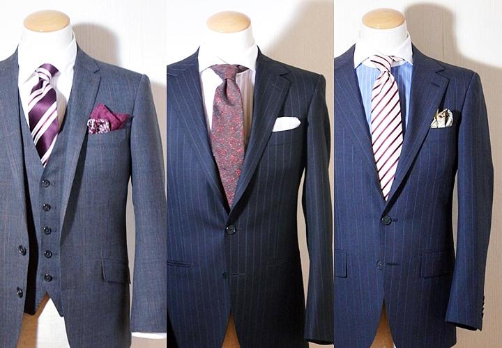 イギリス ブランド/ハリソンズ・オブ・エジンバラ/ネイビースーツ