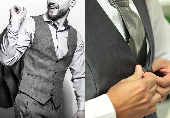 結婚式に参列する時のグレーのベスト