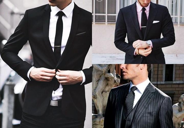 ブラックスーツにおすすめのVゾーン