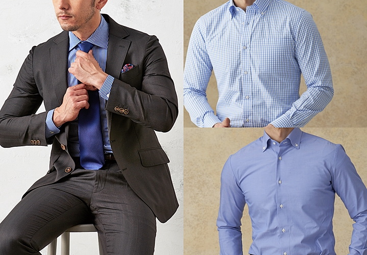 ブラウンスーツ,シャツの合わせ方