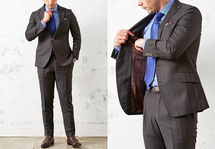 ブラウンスーツ,ビジネスシーンでの着こなし方,シングルスーツ