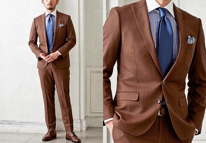 ブラウンスーツ,結婚式シーンでの着こなし方