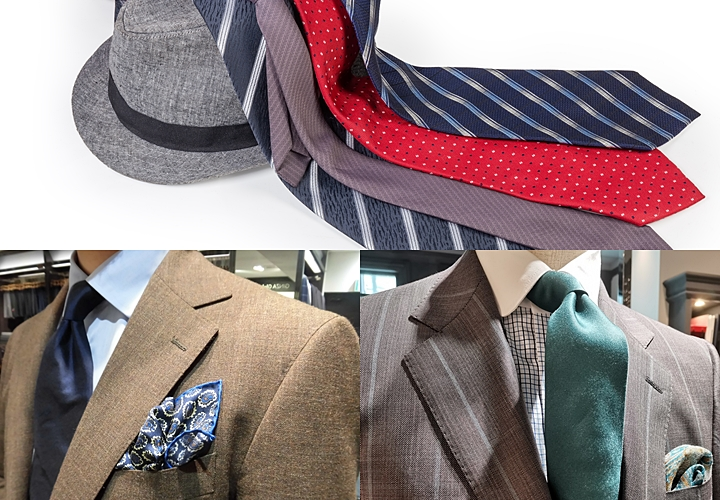 ブラウンスーツ,ネクタイの色の合わせ方