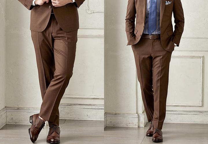 ブラウンスーツ,靴の合わせ方