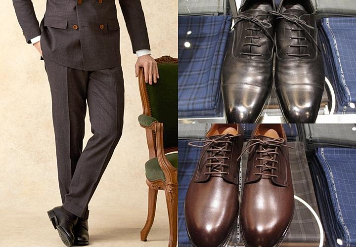 ブラウンスーツ,靴の色
