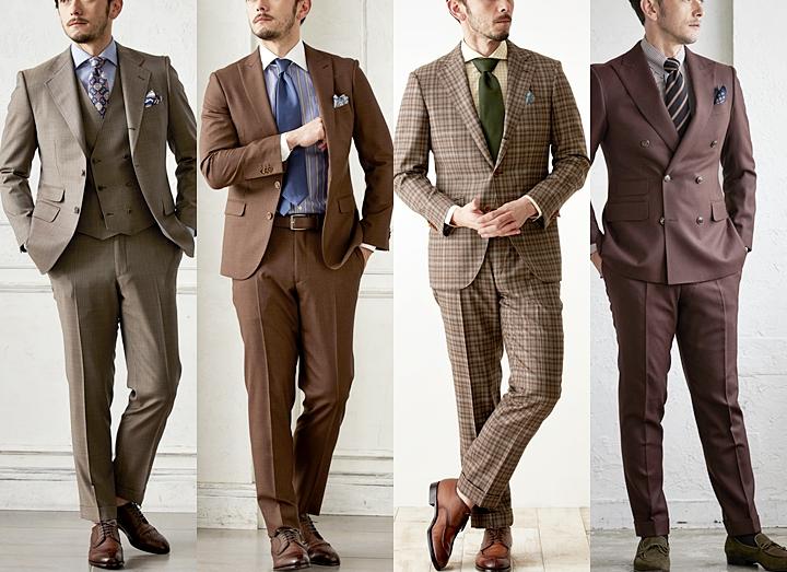 ブラウンスーツのお洒落な着こなし方!~ネクタイ・靴・シャツのコーディネート~