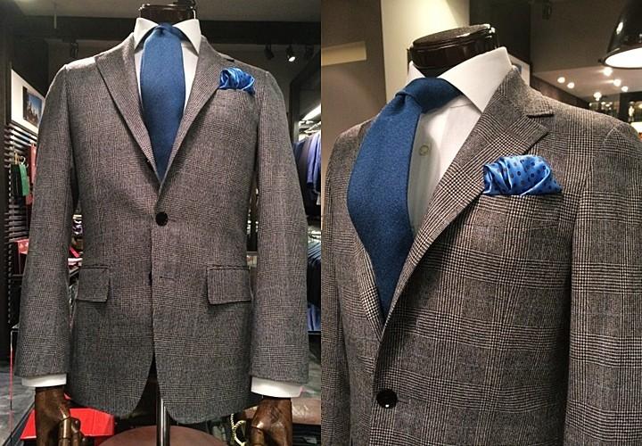 classicalな雰囲気 チェック柄のフランネルスーツ