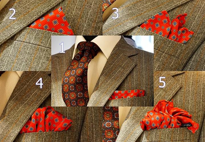 ポケットチーフの5つの折り方