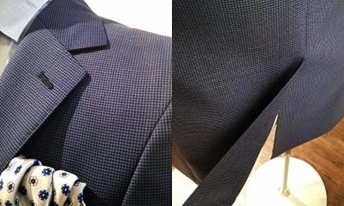 生地の種類 マイクロチェック柄のスーツ