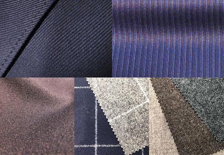 生地の種類 綾織のスーツ生地 ギャバ サージ フラノ