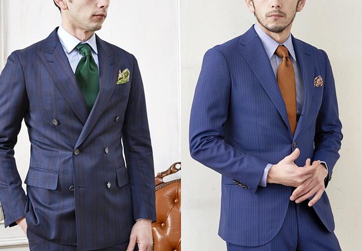 ネイビースーツ,ダークトーン,無地ネクタイ
