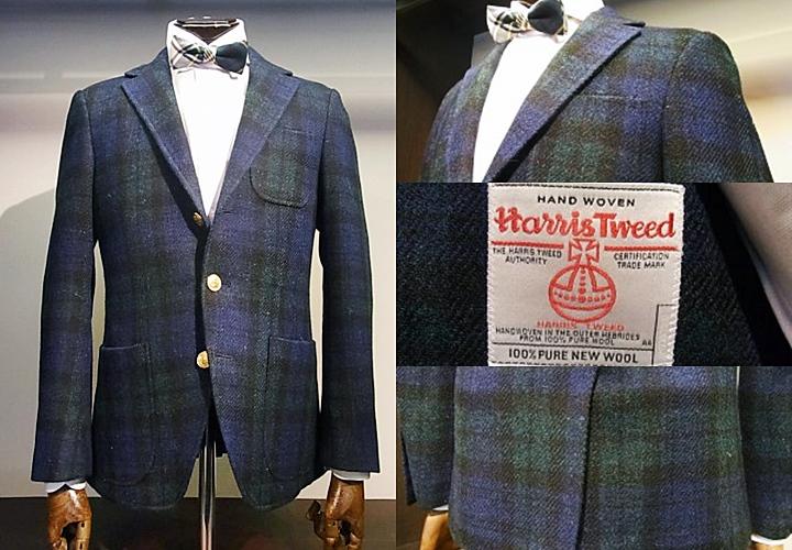 ハリス・ツイードのブラックウォッチのジャケット