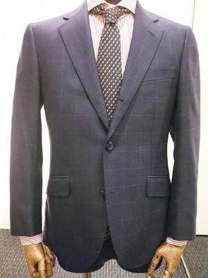 生地の種類 ウインドペーン ネイビースーツ