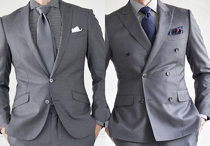ダブルスーツ,シングルスーツとの違い