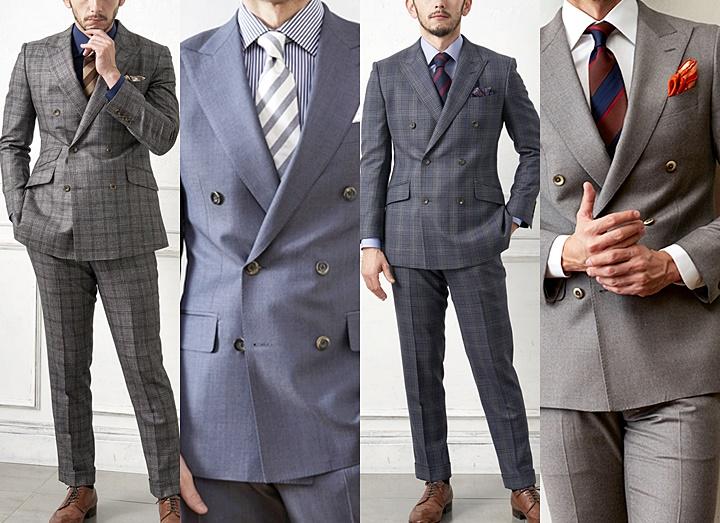 まず、もう一度知っておきたいことは、従来のダブルスーツのイメージとは異なり、よりスタイリッシュに形になっていること。シングルスーツと比べると、着こなし方が