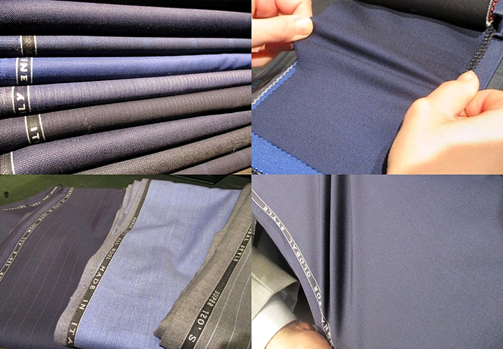ビジネススーツ,ストレッチ素材の生地