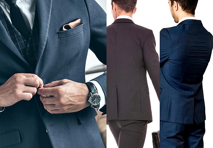 ビジネススーツ,シルエットにこだわった着こなし