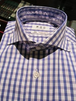 【シャツ襟の種類】ホリゾンタルカラーデザインのシャツ