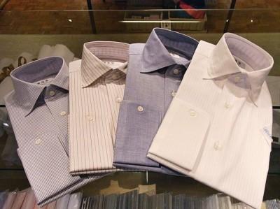 【シャツ襟の種類】ワイドカラーデザインのシャツ