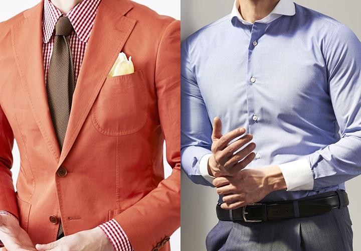 ラウンドカラーシャツ,クレリックシャツスタイル