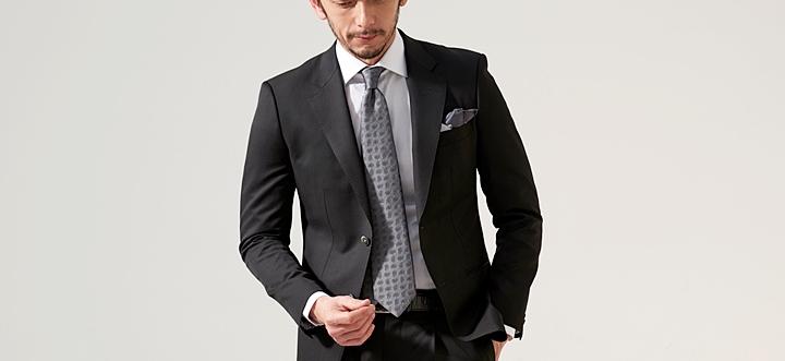 ビジネスシャツ,ワイドカラーシャツ,ブラックスーツ