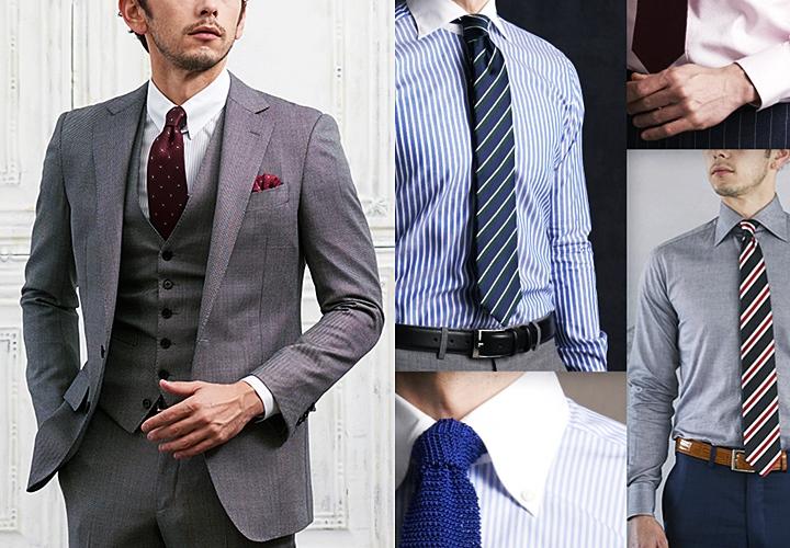 スタイル全体のイメージが変わる豊富なシャツの種類