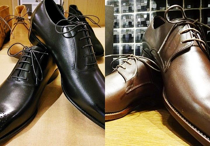 ブラックとブラウンのビジネスシューズ(革靴)