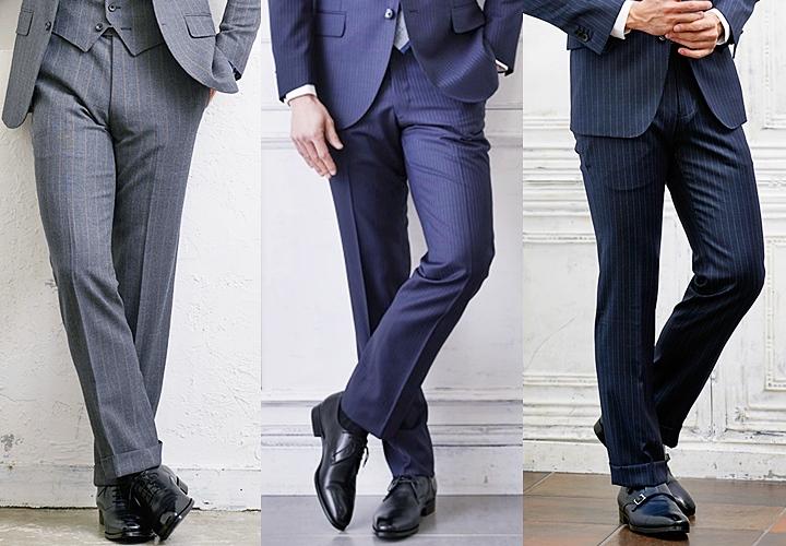 人気のスーツカラーと合わせたブラックのビジネスシューズ