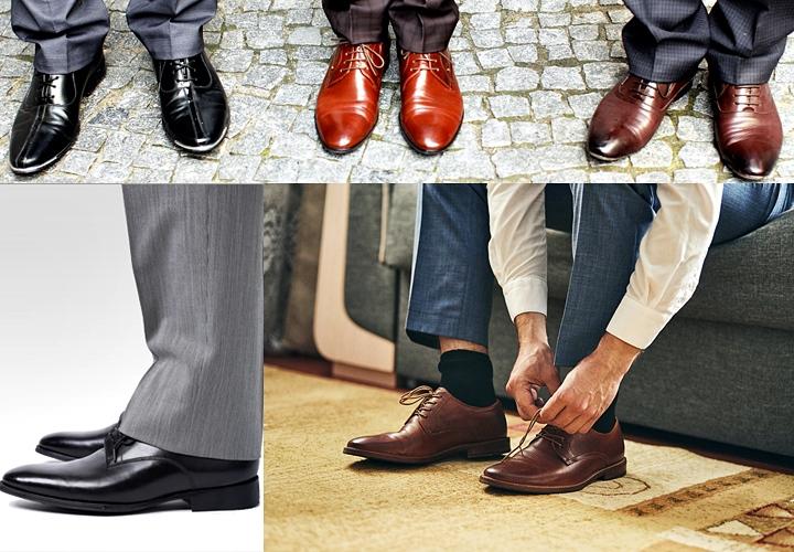 ビジネスシューズのマナー/スーツの足元・靴下・長さ
