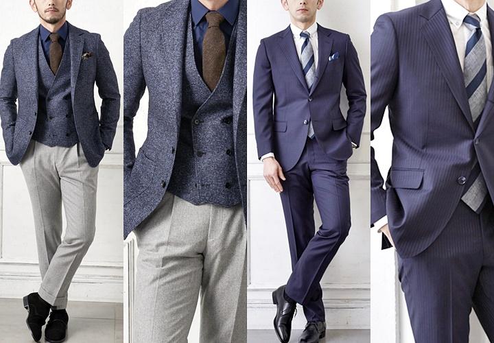 ジャケパンスタイルとビジネススーツスタイル