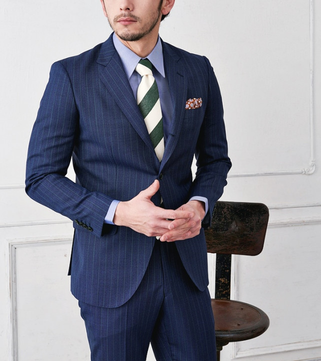 2e832e84280f2c スーツの印象を爽やかに!青シャツの合わせ方と着こなし術 – ENJOY ORDER ...