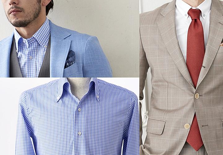 ボタンダウンシャツ・スーツ・ジャケットスタイル