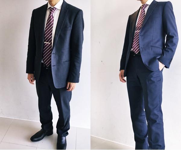 スーツのおしゃれ(着方)サイズの違い:ビフォーアフター