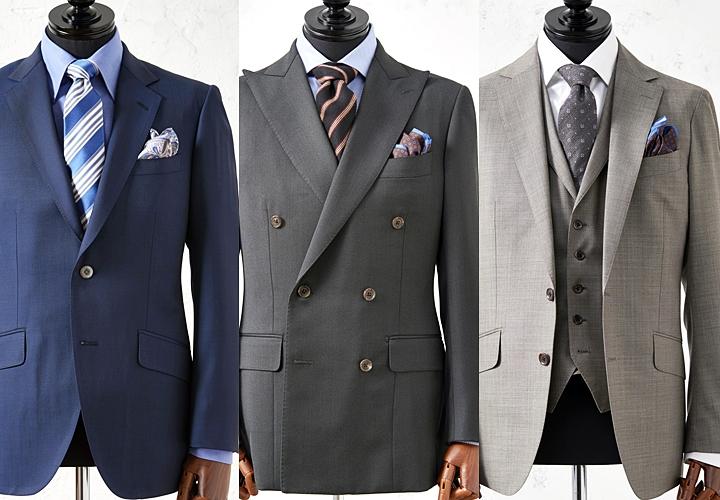スーツの種類①シングル→②ダブル→③スリーピース