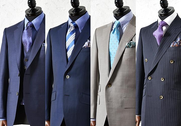 スーツの色柄に合ったVゾーン
