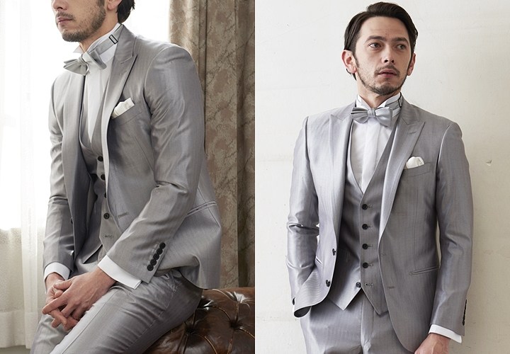 結婚式でのグレースーツスタイル