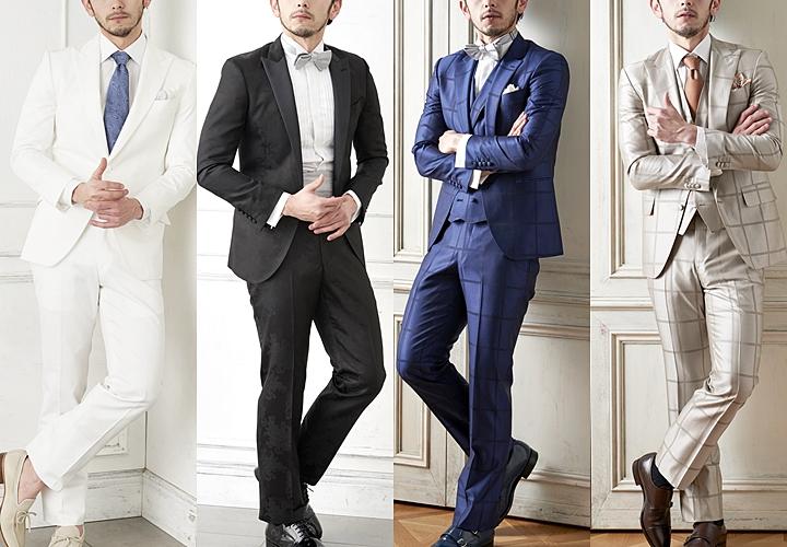 結婚式のスーツカラー:ブラック・ネイビー・グレー・ブラウン