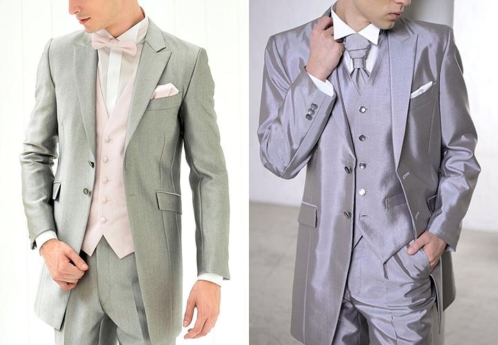大人の色気を感じさせる結婚式のグレースーツ