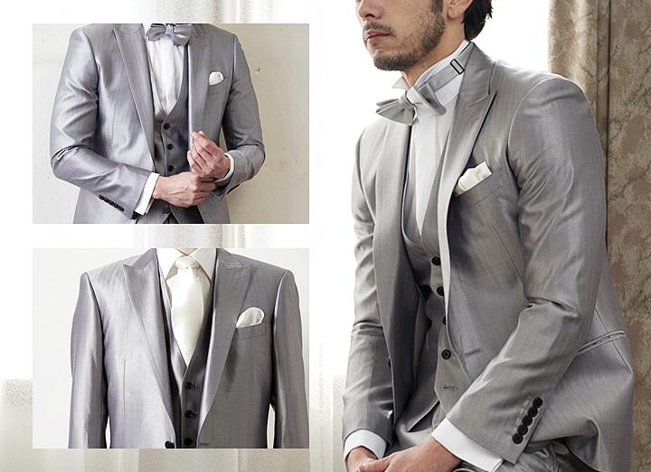 結婚式に着こなしたい色!グレースーツ