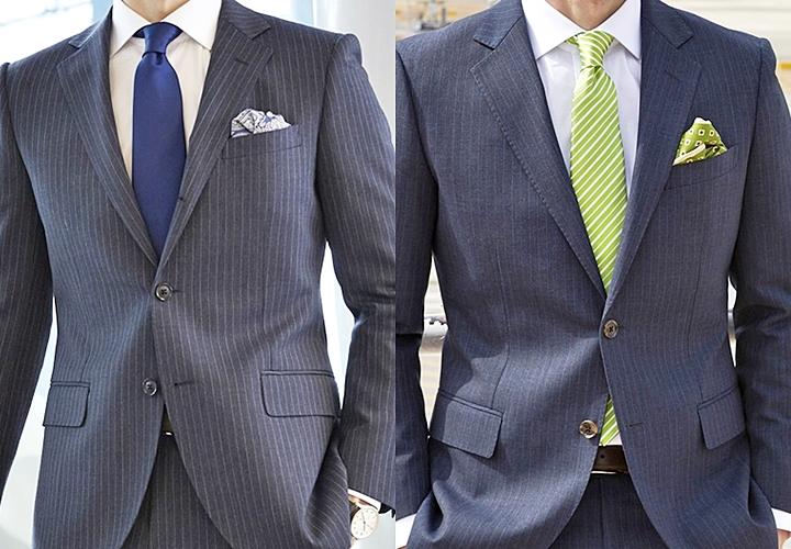 ネイビースーツとネクタイとの合わせ方