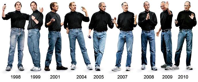 優秀な人から学ぶ白シャツのすすめ:スティーブ・ジョブス