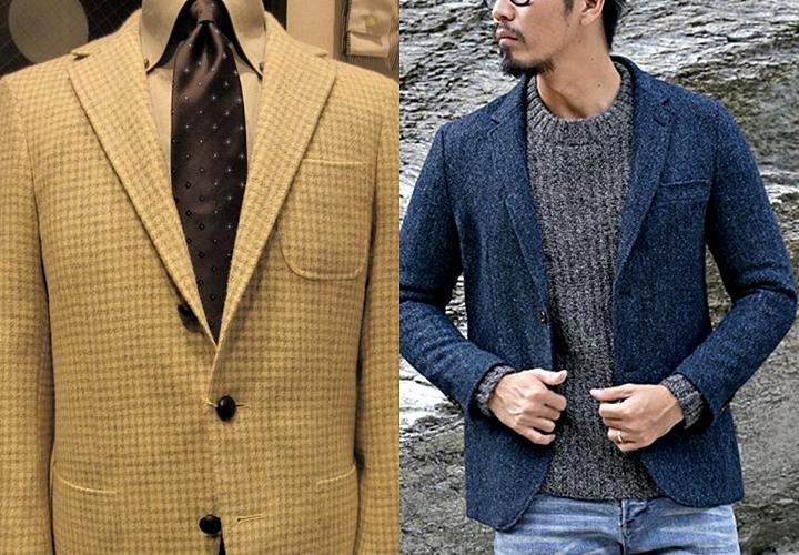 ツイード素材のジャケット