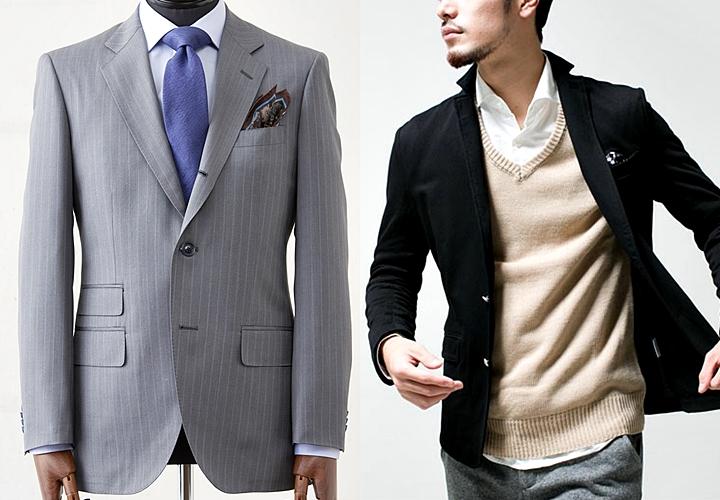 スーツとテーラード、サイズ感・シルエットの違い