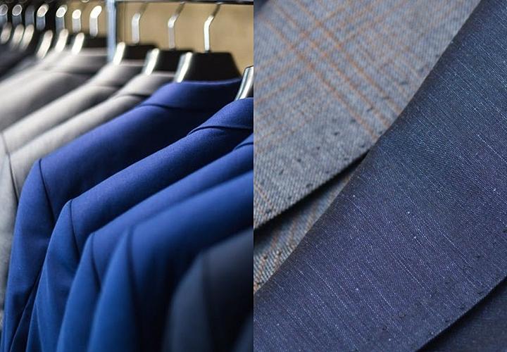スーツとテーラード、素材と艶の違い