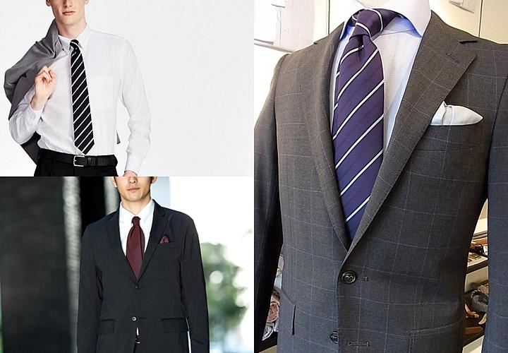 ジャケット・ネクタイに合わせたビジネスカジュアルスタイル